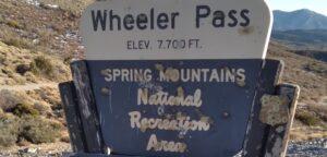 Wheeler Pass 7,700 feet